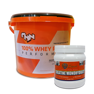 100% Whey Protein Performance 3kg + Creatine Monohydrate